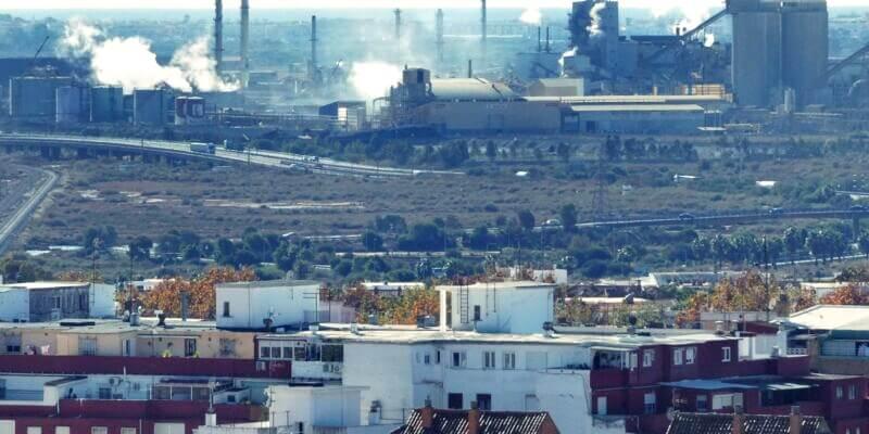 El efecto de la contaminacion industrial sobre la piel