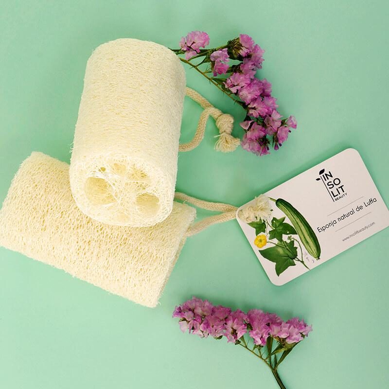 Esponja exfoliante natural luffa