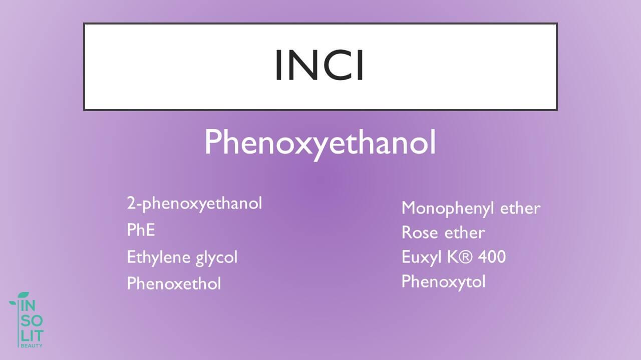 INCI Fenoxietanol en productos cosmeticos