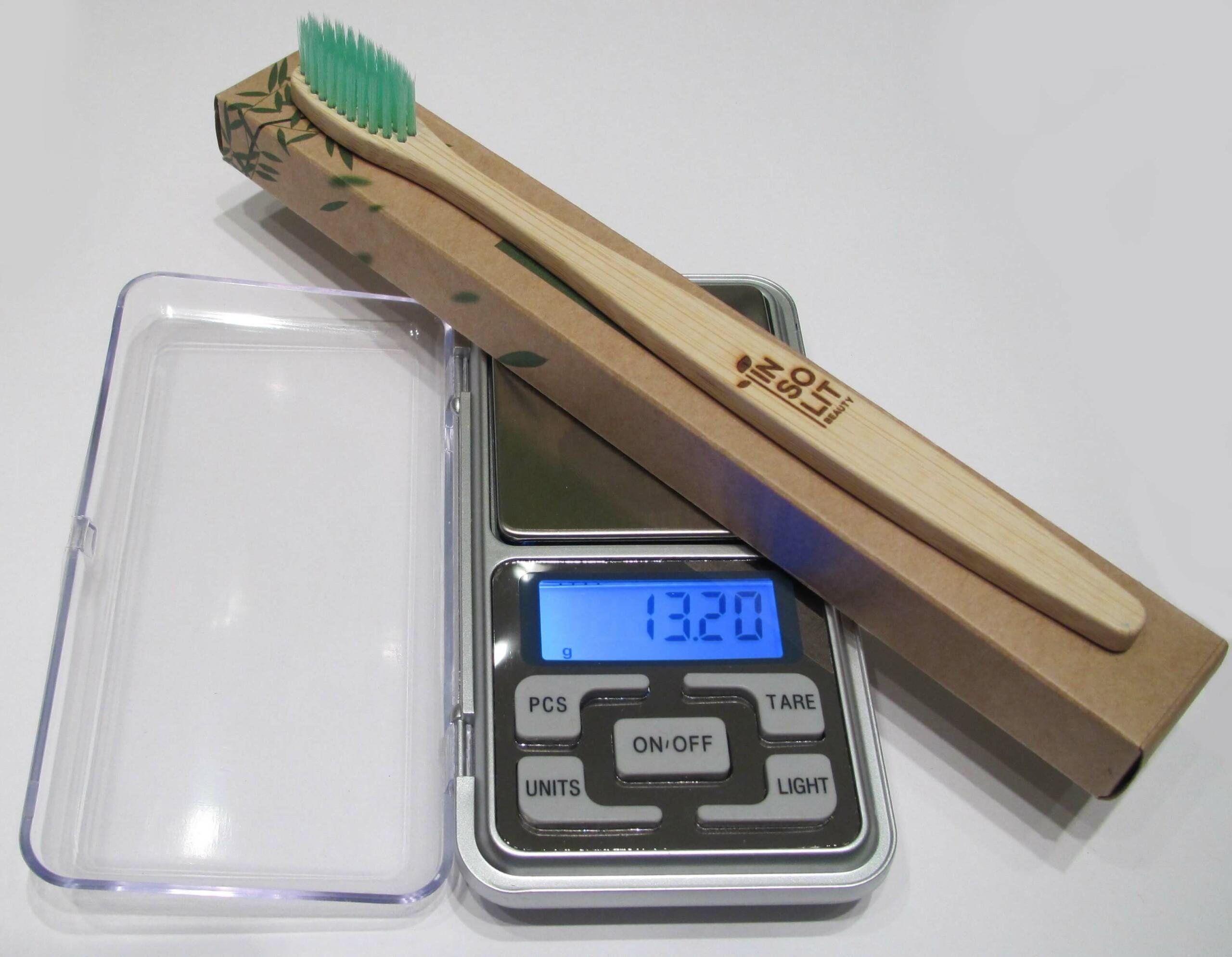 Cepillo de dientes de bambu mas packaging