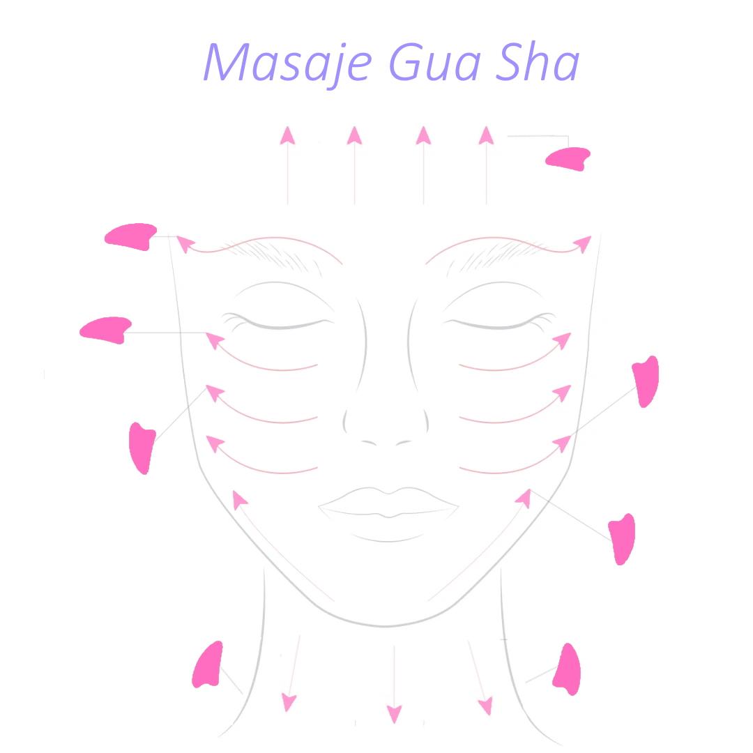 Masaje Gua Sha Cuarzo Rosa