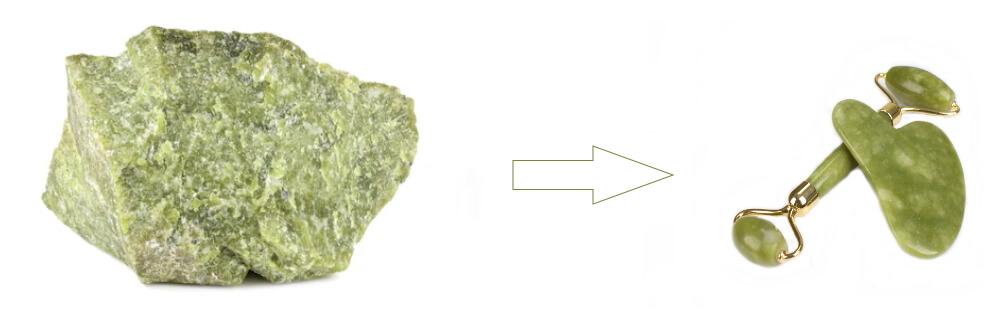Gua Sha y Roller de mineral serpentina