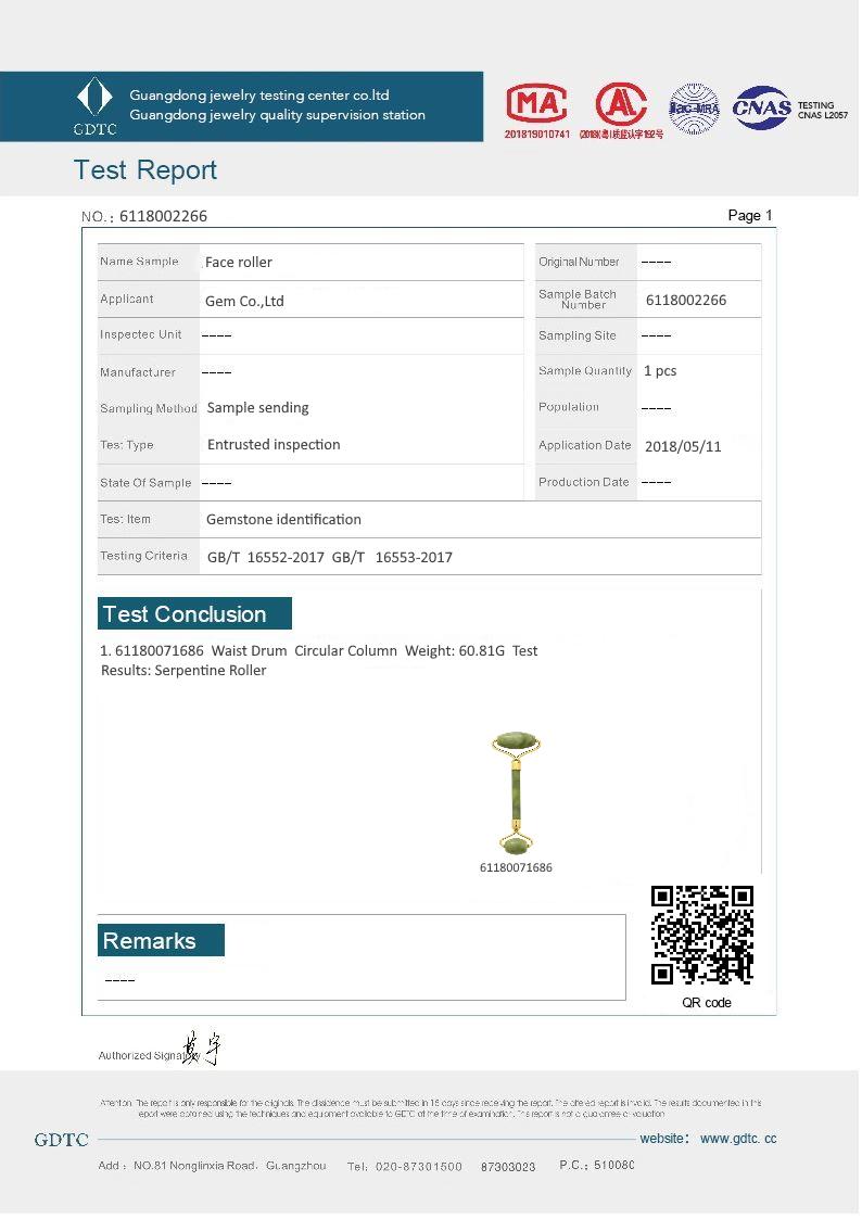 Certificado gemologico