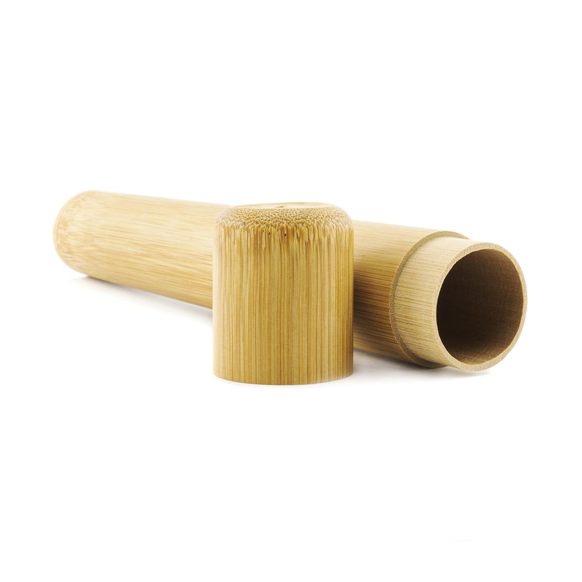 Estuche de bambu para cepillo de dientes