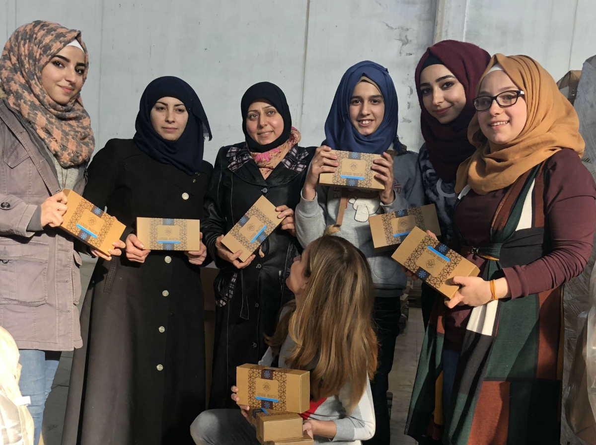 Refugiadas sirios fabricantes Jabon natural de Alepo